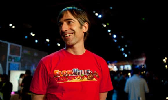 To the right, to the right: Mark Pincus of Zynga.