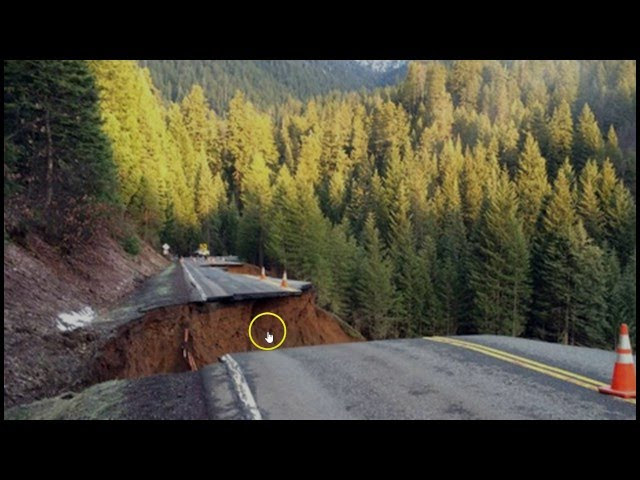 California Highway Crumbles as Rain-Soaked Hillside Collapses  Sddefault