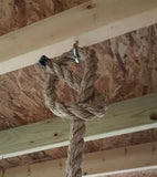 rope knot to hang bed swing from porch ceiling