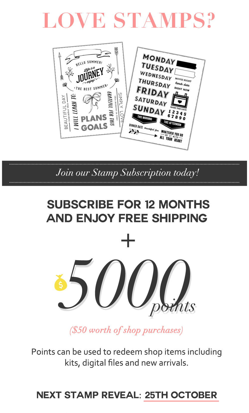 Join our Stamp Subscription