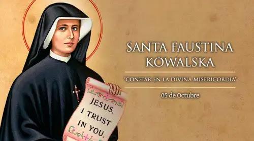 Hoy es fiesta de Santa Faustina Kowalska, servidora de la Divina Misericordia