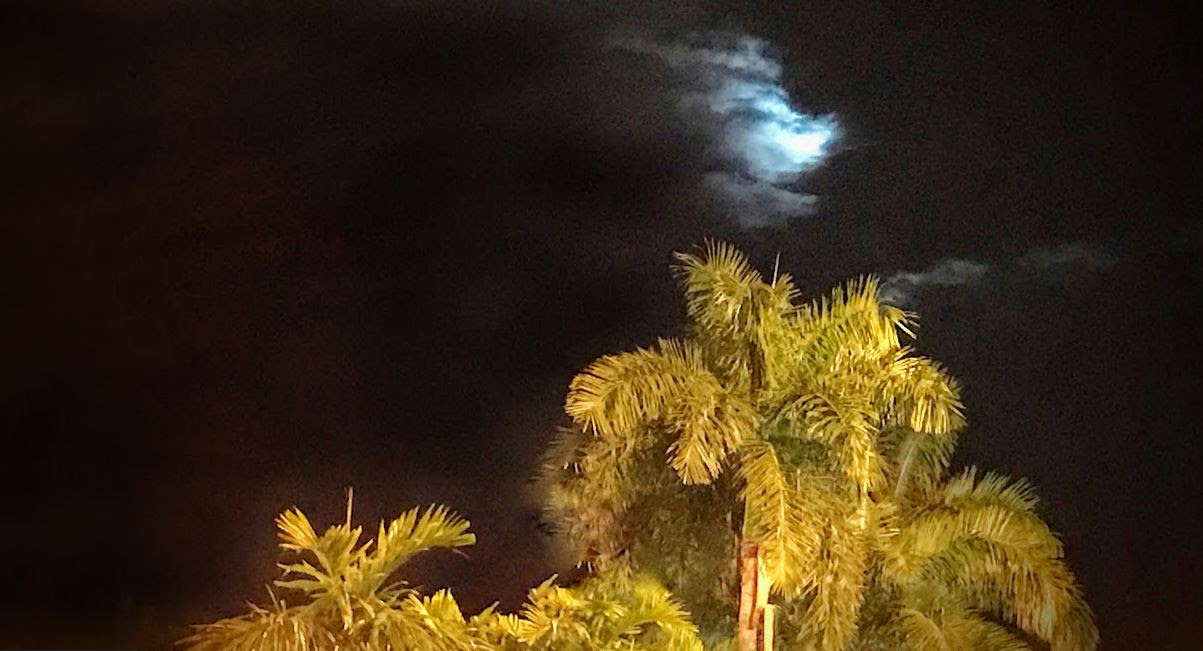 Super Moon thru the clouds