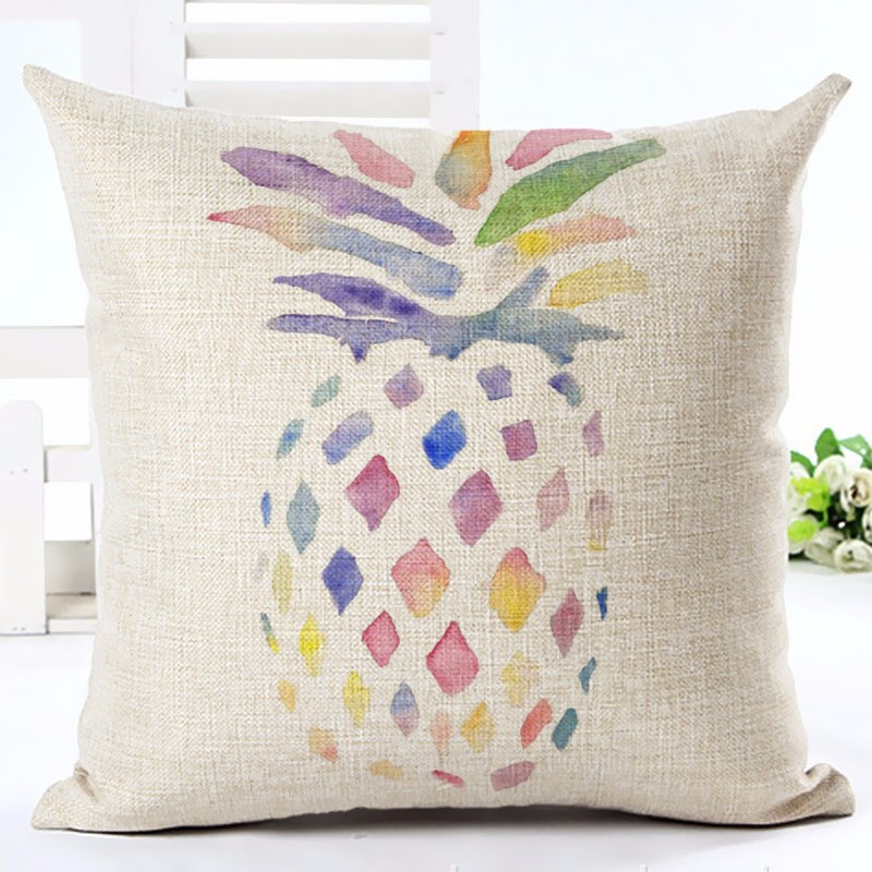 Pastel Pineapple Pillow Cover