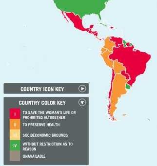 Abortion laws in Latin America are very restrictive despite