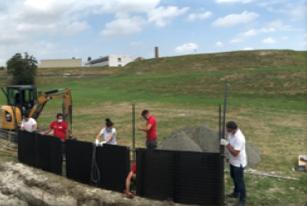 Flat Panel GHX trench installation