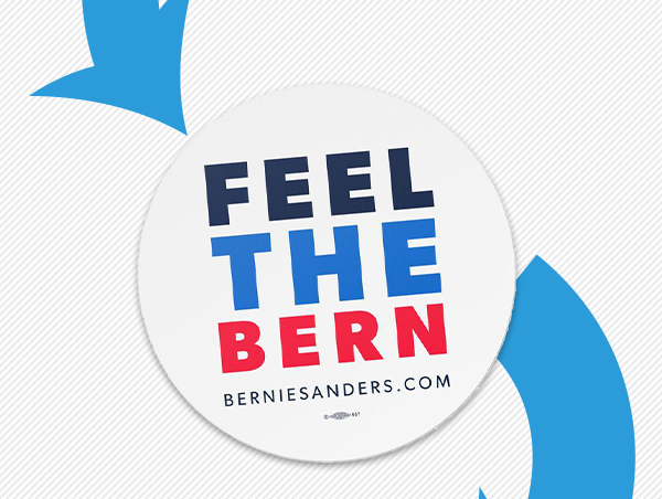 Feel the Bern car magnet,