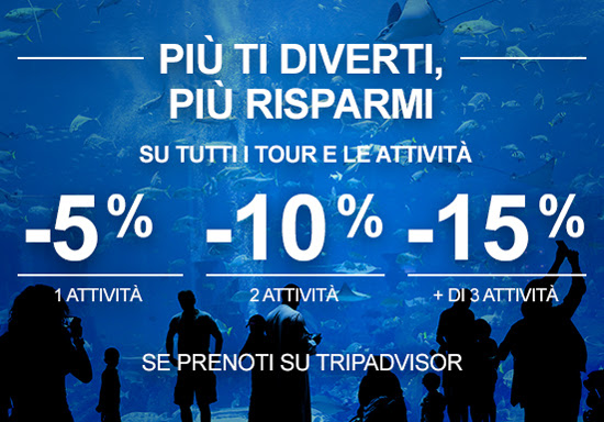 Save up to 15% on tours and activities