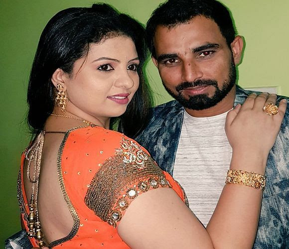 Mohammed Shami with his wife Hasin Jahan.