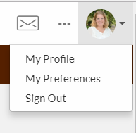 Example of How to access you Profile in the Lehigh Connects Page