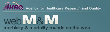 AHRQ WebM&M logo image
