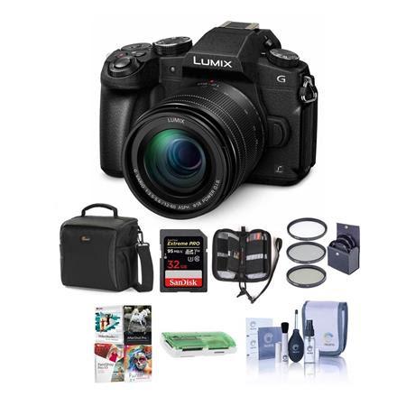 Lumix DMC-G85 Mirrorless Camera with 12-60mm F/3.5-5.6 Lumix G Vario Power OIS Lens, Black