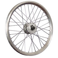 Taylor Wheels 20 inch bike front wheel Dynamic 4 DH-3N31 hub dynamo silver...