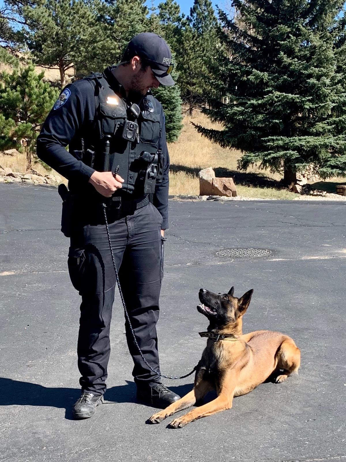 K9 Diego with Officer/Handler Mikel Otazua