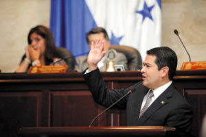 Juan Orlando Hernández en el Congreso Nacional