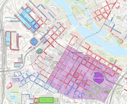 Minneapolis parking meter map