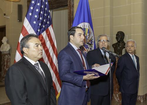Nuevo Representante Permanente de Estados Unidos entregó sus cartas credenciales a Secretario General de la OEA