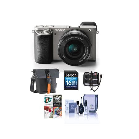 Alpha A6000 Mirrorless Digital Camera with 16-50mm E-Mount Lens, Graphite - Bundle With 16