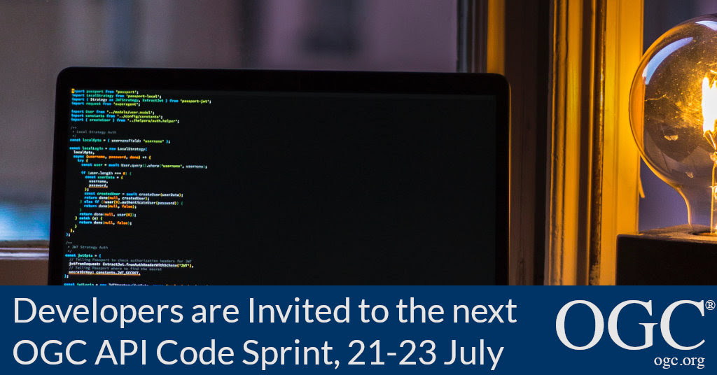 Developers are invited to the next OGC API Code Sprint held July 21-23, 2021