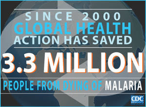 Infographic of the week: Since 2000, global health action has saved 3.3 million people from dying of malaria