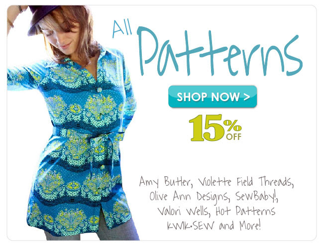 15% off All Patterns