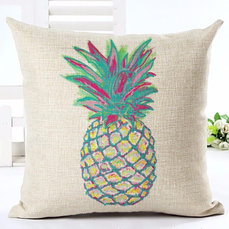 Neon Pineapple Print