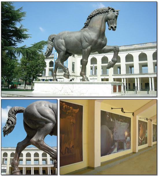 Il Cavallo di Leonardo all'Ippodromo di San Siro