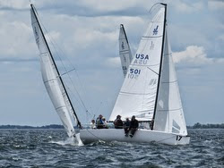 J/70s sailing Cedar Point YC regatta
