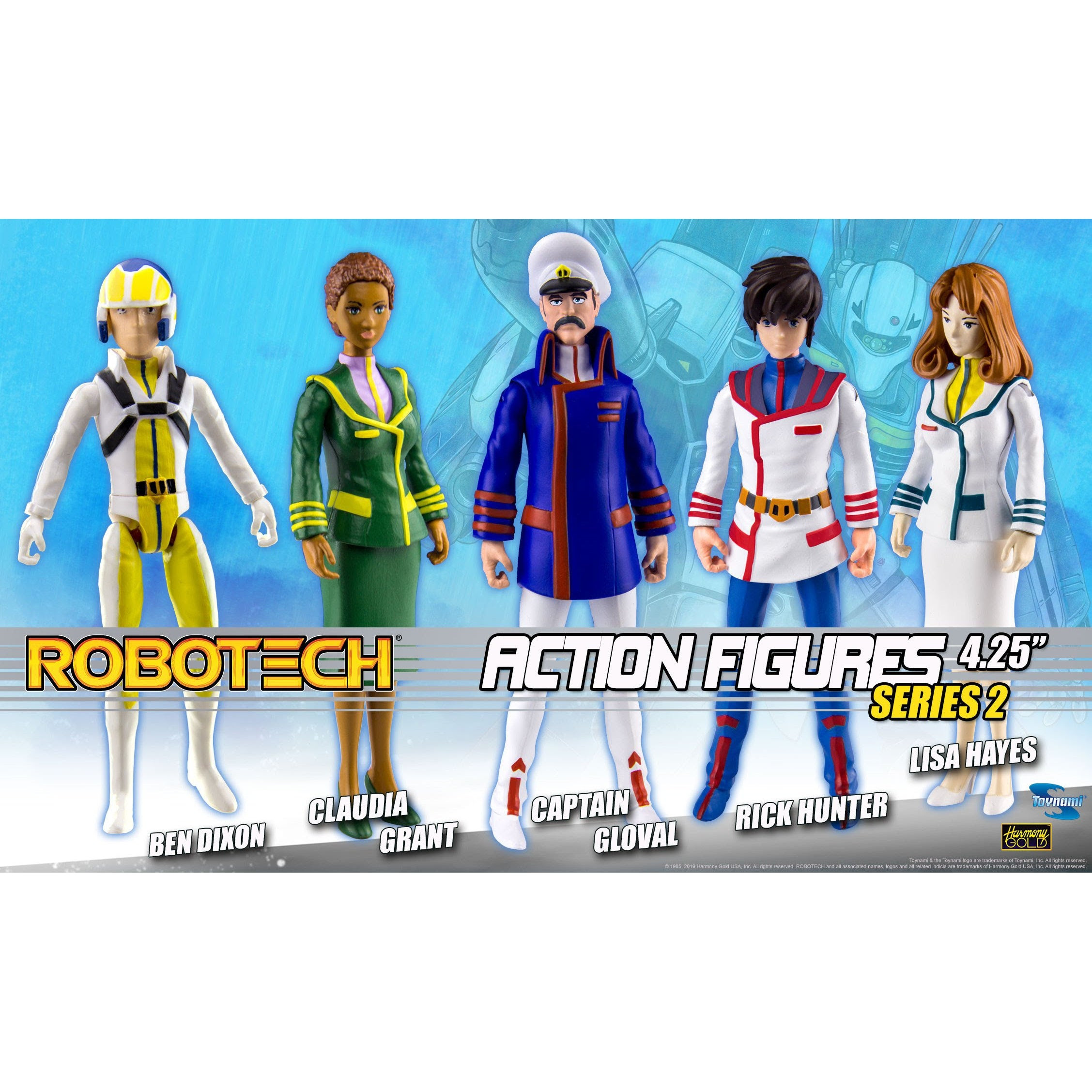 "Image of Robotech 4.25"" Action Figures Series 2 - Complete Set of 5 - SUMMER 2019"