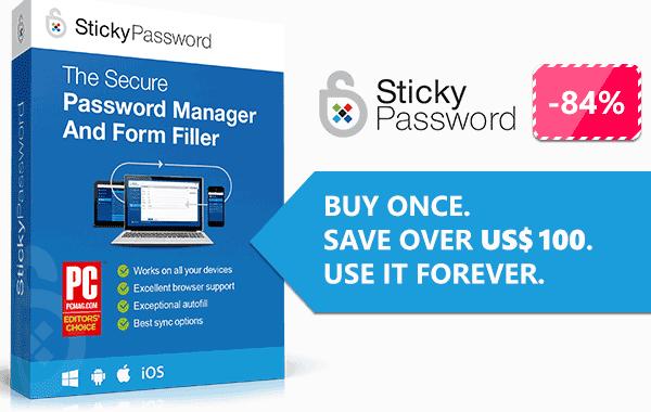 84% Off Sticky Password Premium Coupon