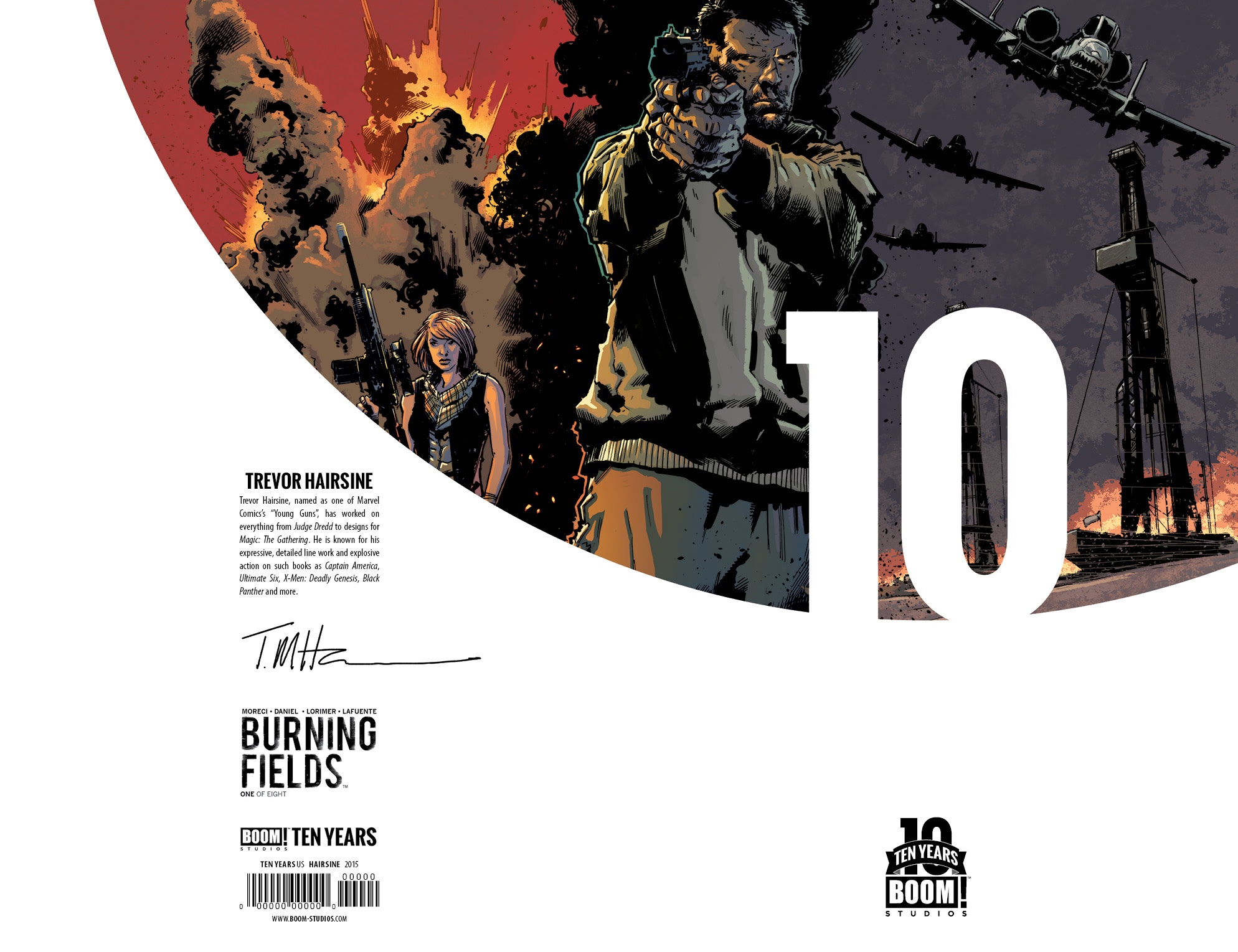 Burning Fields #1 10 Years Cover
