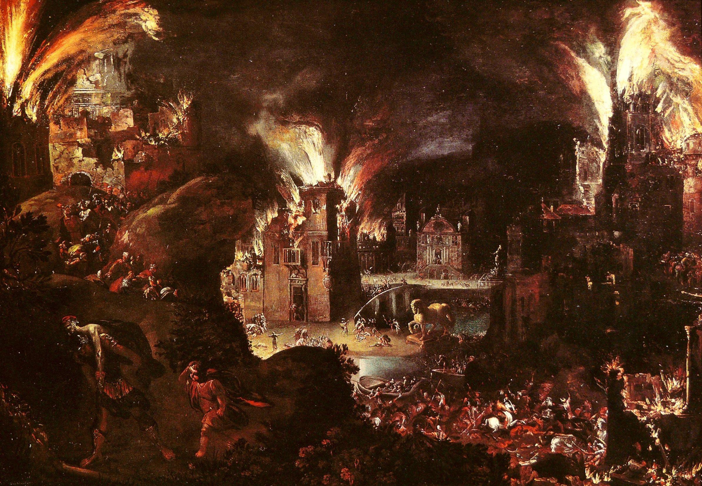 Image result for destruction of Troy/Images