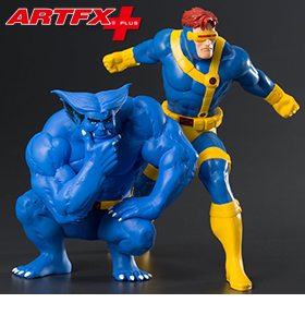 X-Men '92 ArtFX+ Cyclops & Beast Statue Two-Pack