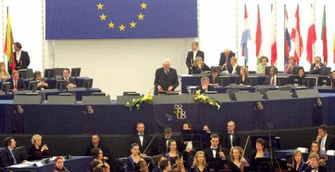 Vista de una sesión del Parlamento Europeo.