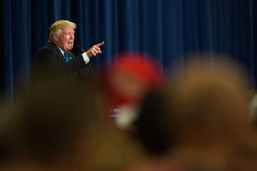 Donald J. Trump spoke Wednesday at a rally in Cincinnati that was said to be a tryout for a potential running mate.