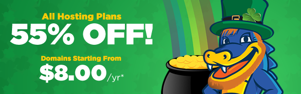 St. Patrick`s Day Sale - 55% O...
