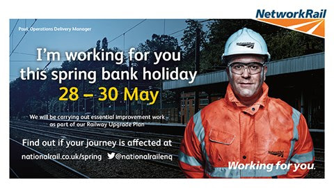 Investment in bigger, better railway continues over spring bank holiday weekend