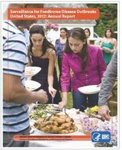 Cover photo of Surveillance for Foodborne Disease Outbreaks Annual Report 2012