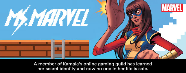 MS. MARVEL	#15 A member of Kamala's online gaming guild has learned her secret identity and now no one in her life is safe.