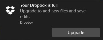 Your Dropbox is FULL