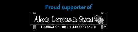 Proud supporter of Alex's Lemonade Stand Foundation For ChildHood Cancer