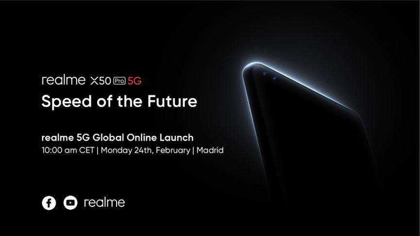 Póster oficial del realme X50Pro 5G