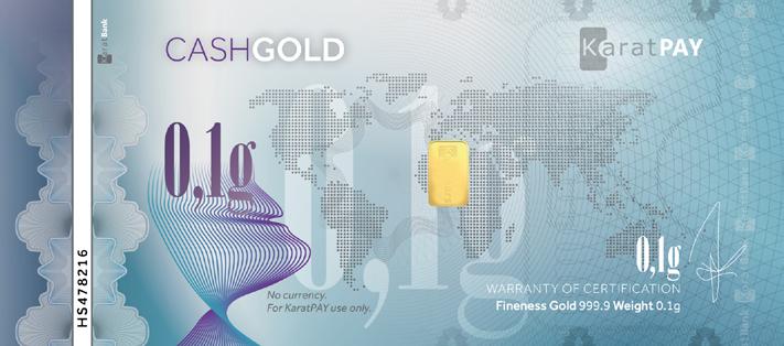 CashGold 0,1 g.