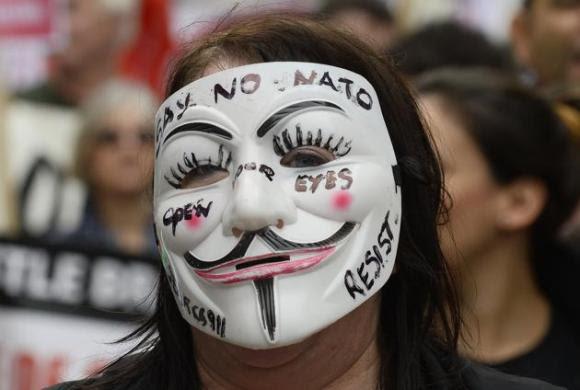 Protestas contra la cumbre de la OTAN en Gales 3