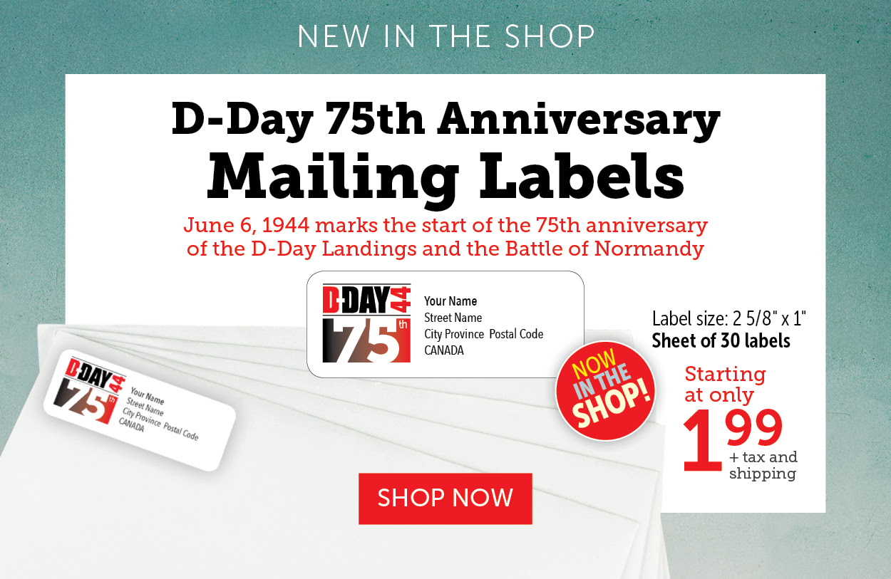D-Day Mailing Labels