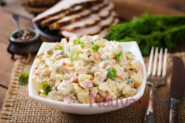 công thức làm salad nga
