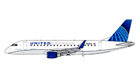 GJUAL1889   Gemini Jets 1:400 1:400   Embraer E-170 United Express N605UX   is due: February 2020