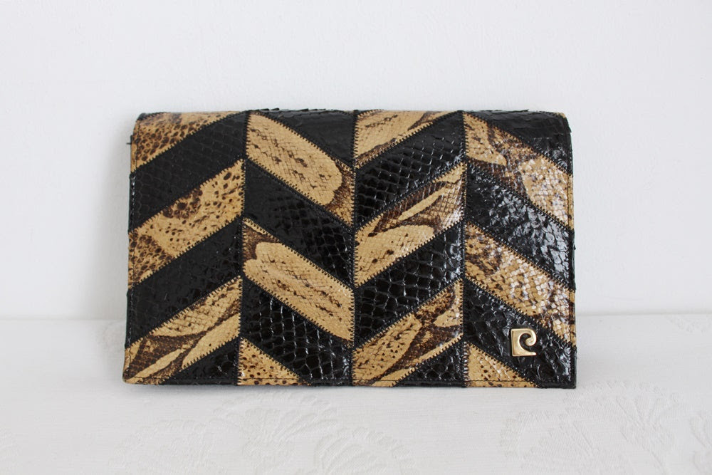 GENUINE SNAKE SKIN PIERRE CARDIN CLUTCH