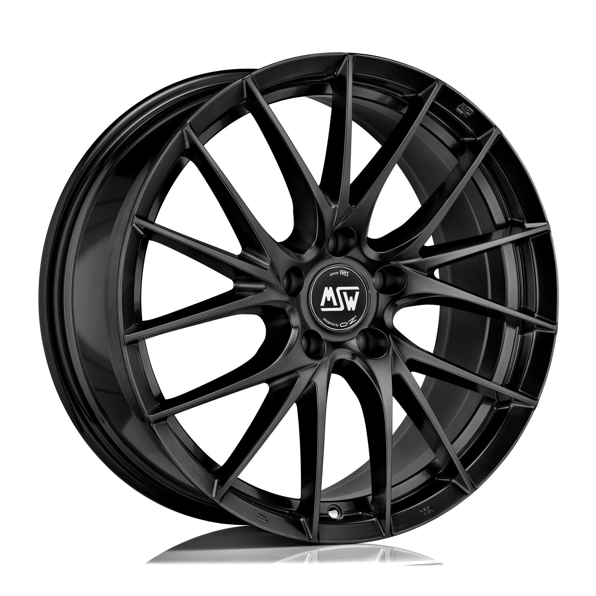 cerchi neri MSW 29 Gloss Black cerchio colore ruote nero OZ gloss black multirazze configuratore bmw audi volkswagen replica
