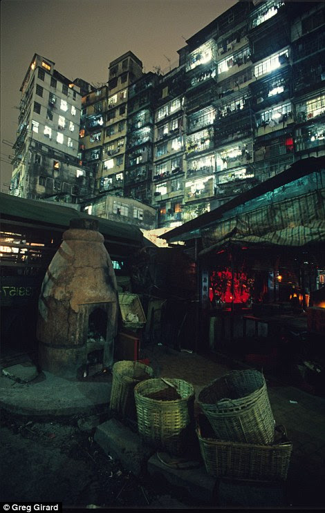 The city had a dystopian appearance