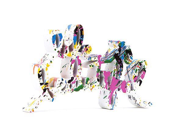 Life is Beautiful Mixed Splash Edition - opera di Mr.Brainwash in vendita presso la Galleria Deodato Arte